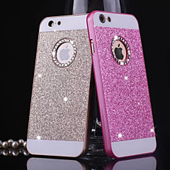 Til iPhone X iPhone 8 iPhone 8 Plus iPhone 5 etui Etuier Rhinsten Bagcover Etui Glitterskin Hårdt Metal for iPhone X iPhone 8 Plus iPhone
