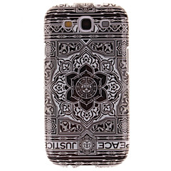 Large Black Flower Design TPU IMD Soft Cover for Samsung Galaxy S3 I9300
