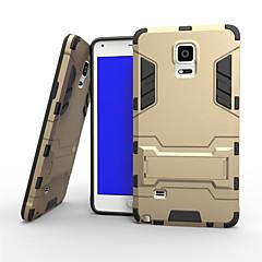 Til Samsung Galaxy Note Etuier Stødsikker Med stativ Bagcover Etui Rustning Hårdt PC for Samsung Note 4