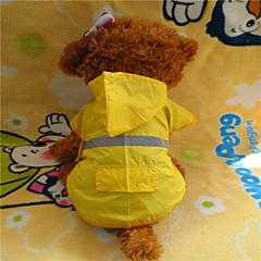Perros Impermeable Amarillo Primavera/Otoño Clásico A Prueba de Agua