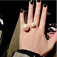 MISSING U Alloy / Imitation Pearl Ring Statement Rings Daily / Casual 1pc
