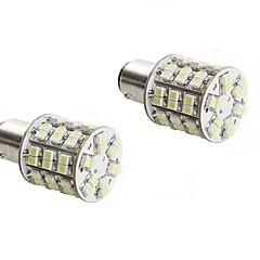 2PCS 1157 4W 60x3528 SMD White Light LED Bulb for Car Brake Lamp (DC 12V)