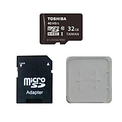 도시바의 32GB CLASS10를 40m / s의 메모리 카드 및 메모리 카드와 메모리 카드 어댑터 박스