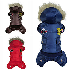 estilo top gun pethingtm EE.UU. cálido abrigo con sudaderas y pantalones para perros