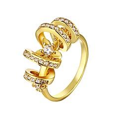 Anéis Statement ( Zircão / Strass / Chapeado Dourado ) - Casamento / Pesta / Diário