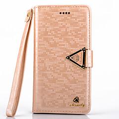For Samsung Galaxy Note Pung / Kortholder / Med stativ / Flip Etui Heldækkende Etui Glitterskin Kunstlæder Samsung Note 3