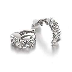Earring Clip Earrings Jewelry Women Alloy / Cubic Zirconia 2pcs Silver / White