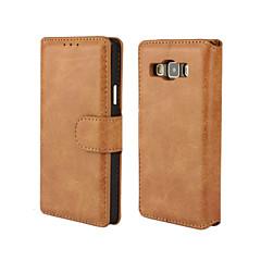 Mert Samsung Galaxy tok Kártyatartó / Állvánnyal / Flip / Mágneses Case Teljes védelem Case Egyszínű Műbőr Samsung A7 / A5 / A3
