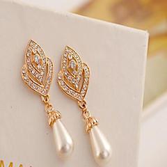 Dame Dråbeøreringe Kærlighed kostume smykker Perle Imiteret Perle Kvadratisk Zirconium Rhinsten Legering Hjerteformet Smykker Til