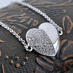 Fashion Top Grade Drill Glaze Heart Shape Copper  Bracelet