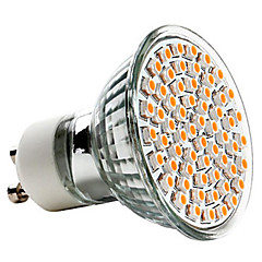 3W GU10 Spot LED MR16 60 SMD 3528 240 lm Blanc Chaud AC 100-240 V