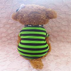 Verano - Verde - Cebra - Algodón - Camiseta - Perros - XXS / S / M
