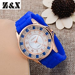 Women's Fashion Diamond Quartz Analog Silicone Wrist Watch(Assorted Colors)