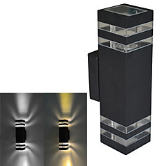 JIAWEN® Black IP54 Waterproof  E27 8W 3000-3200K/6000-6500K Warm White/White LED Wall Lights (AC 85-265V)
