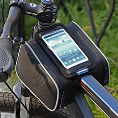 Roswheel Cycling Bike Bicycle Front Top Tube Frame Pannier Double Bag Pouch for 4.2-4.8inch Cellphone 1.8