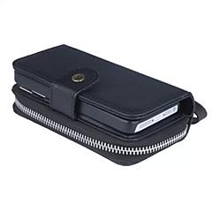 Για Θήκη iPhone 5 Πορτοφόλι / Θήκη καρτών tok Τσαντάκι πουγκί tok Μονόχρωμη Σκληρή Συνθετικό δέρμα για AppleiPhone 7 Plus / iPhone 7 /