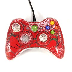 New USB Wired Gamepad Controller Joystick for Xbox 360 & Slim 360E & PC Windows Red Crackle