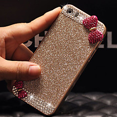 Luxury Bling Glitter Bowknot Back Cover Case with Diamond for iPhone 4/4S(Assorted Colors)