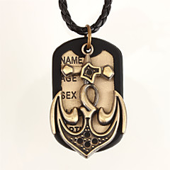 Necklace Pendant Necklaces Jewelry Daily / Sports Leather Black 1pc Gift
