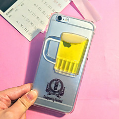 3D Beer Pattern TPU Soft with Screen Protector For iPhone 4/4S