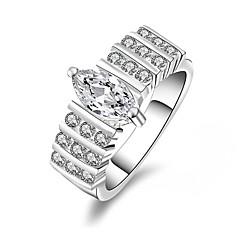 Ringen Bruiloft / Feest / Dagelijks / Causaal Sieraden Verzilverd Dames / Heren / Echtpaar Midiringen 1 stuks,7 / 8 Zilver