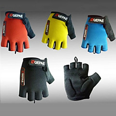 Qepae Cycling Gloves fingerless Half Finger Lycra Anti-skid Bicycle Gloves