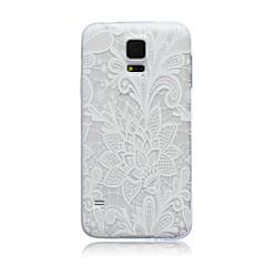 For Samsung Galaxy etui Gennemsigtig Etui Bagcover Etui Blomst TPU for Samsung S6 edge S6 S5 Mini S5 S4 Mini S4 S3 Mini S3