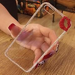 lèvres rouges sexy bouche de cas de bling de paillettes pour iphone 5 / 5s avec strass diamant noeud arc-(couleurs assorties)