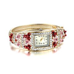 Women's Elegant Golden Diamond National Set Bangle Watch Cool Watches Unique Watches