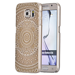 grand motif de tournesol de la magie ultra mince transpareny couverture rigide affaire pour Samsung Galaxy S6