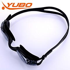 Yobo γυαλιά unisex κολύμπι ανοιχτό γκρι αντι-ομίχλη / αδιάβροχο / ρυθμιζόμενο μέγεθος / αντι-UV / αντιολισθητικό pc ιμάντα γέλη πυριτίου