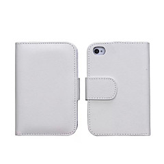 Specially Designed PU Leather Wallet Case Full Body Case for iPhone 4/4S(Assorted Colors)