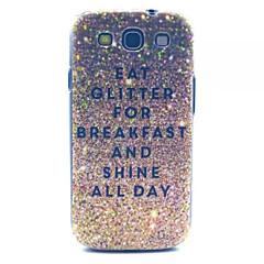glitter frukost mönstrar pc hårda fallet för samsung s3 i9300