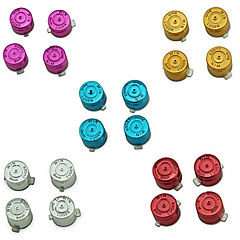 Chrome Aluminum Metal Bullet Buttons Controller Part for PS4 Controller