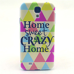 Home Sweet Crazy Home Pattern PC Hard Case for Samsung Galaxy S4 I9500 Back Cover