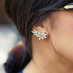 Kolczyki z klipsem Oświadczenie Biżuteria Modny Kamień szlachetny Kryształ górski Stop Gold Silver Biżuteria Na 2pcs
