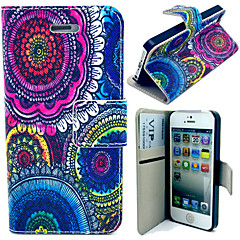 Colorful Circuits Pattern with Card Bag Full Body Case for iPhone 4/4S