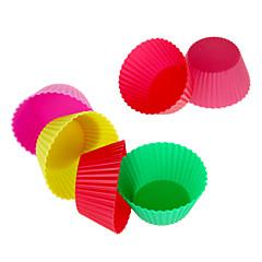 12st herbruikbare siliconen cakevorm bakken cups (willekeurige kleur)