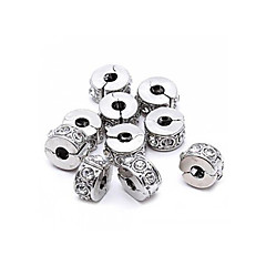 10pcs Rhinestone Stopper Clip Lock European Beads Fit Chain Bracelet