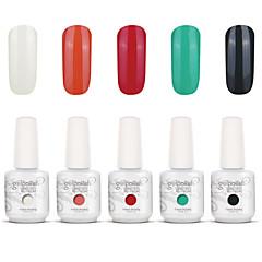 Gelpolish Nail Art Soak Off UV Nail Gel Polish Color Gel Manicure Kit 5 Colors Set S121