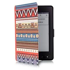 Caso del patrón del tótem étnica de la PU de cuero de 6 pulgadas con hebilla magnética para paperwhite Kindle de Amazon
