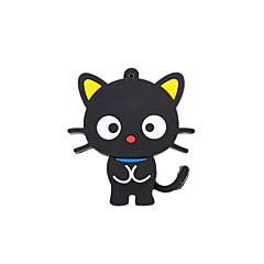 cartoon cute cat nowa czarna Pamięć USB 2.0 Flash Stick pendrive 2GB