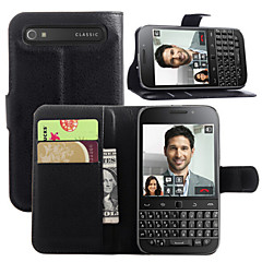 For BlackBerry Case Card Holder / Wallet / with Stand / Flip Case Full Body Case Solid Color Hard PU Leather for BlackBerry