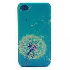 Dandelion  Pattern Transparent Frosted PC Back Cover For  iPhone 4/4S