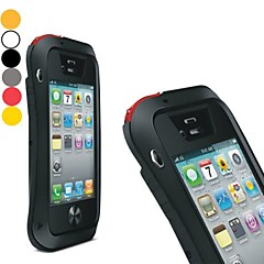 LOVEMEI Powerful Aluminum Bumper Outdoor Gear Armor Waterproof Hard Case for iPhone 4/4S(Assorted Colors)