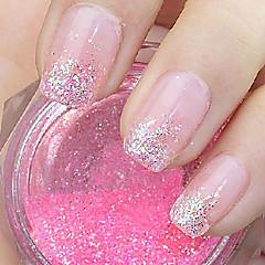 Pink Glitter Powder Nail Art Decorations