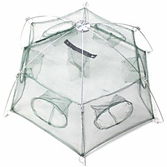 Foldable 6-Hole Shrimp Pot Cage - Green