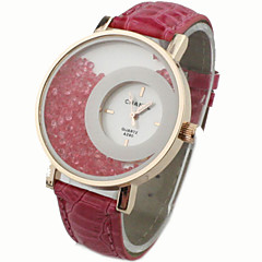 circolare perline rotolamento orologio da polso al quarzo donna