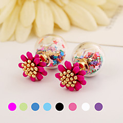 Fashion Flower Color Earrings(1 pair)(Assorted Colors)