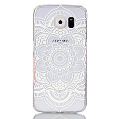 caso difícil oco flor padrão pc para Samsung Galaxy S6